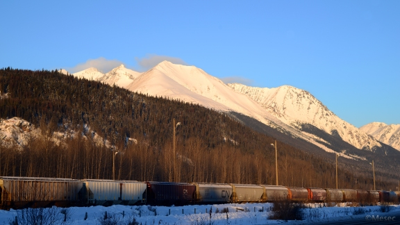 Hudson Bay Mountain from Railway Ave.